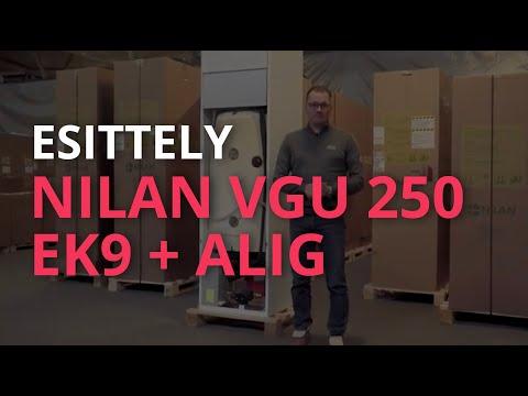 Esittelyssä: Nilan VGU 250 EK9 + Alig -poistoilmalämpöpumppu