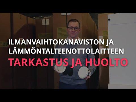 Nilan Suomi - Ilmanvaihtokanaviston ja talteenottolaitteen tarkastus