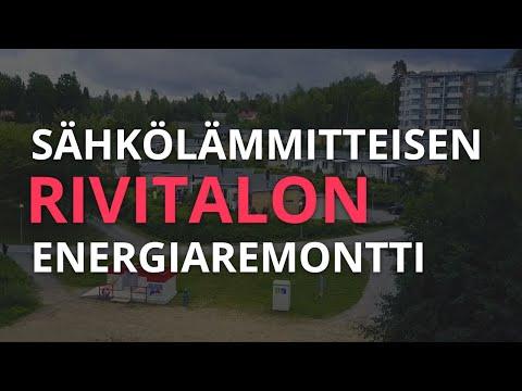 Suorasähkölämmitteisen rivitalon energiaremontti ja viilennys Nilanilla.