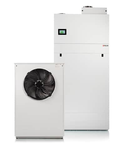 Nilan Compact PC Air 9 ilmavesilämpöpumppu - laite ja ulkoyksikkö