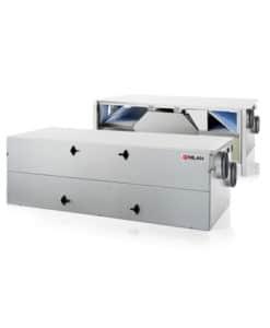 Nilan Comfort CT 200 ilmanvaihtokone lämmontalteenotolla, avattuna ja kiinni