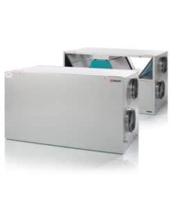 Nilan Comfort 450 ilmanvaihtokone lämmöntalteenotolla, avattuna ja kiinni