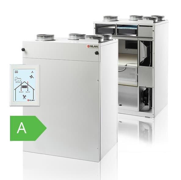 A-energialuokan comfort-laite uudella kosketusnäytöllä