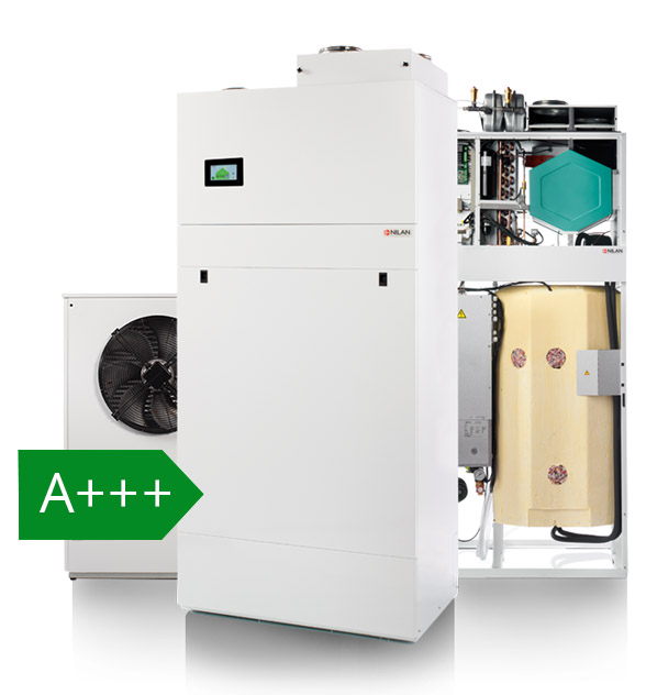 A+++ -energialuokan Nilan Compact 9 Air -laite